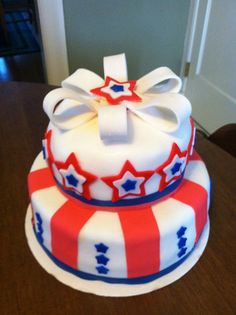 Cake I made for the fourth of July