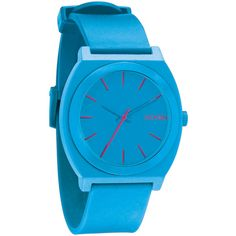 Nixon 'The Time Teller' Watch, 40mm ($60) ❤ liked on Polyvore featuring jewelry, watches, bright blue, nixon, nixon wrist watch, nixon watches, dial watches and water resistant watches