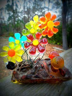 VTG 1960s Retro Groovy LUCITE ACRYLIC Flower Power Mushroom MOD Orange Sculpture