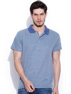 Dream of Glory Inc. Blue Striped Polo T-shirt