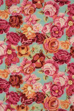 Bed of Roses Vlněné koberec, Kaffee Fassett