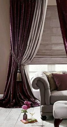 Curtain Designs For Bedroom Livingroom Curtain Ideas Home Theater Curtains Bay Window Treatments Window Treatments Living Room Window Coverings No Sew Curtains Curtains With Blinds Velvet Drapes Home Theater Curtains, Home Curtains, Modern Curtains, Curtains With Blinds, Contemporary Curtains, Window Curtains, Purple Curtains, Colorful Curtains, Fancy Curtains