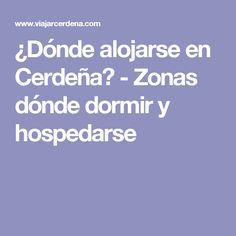 ¿Dónde alojarse en Cerdeña? - Zonas dónde dormir y hospedarse