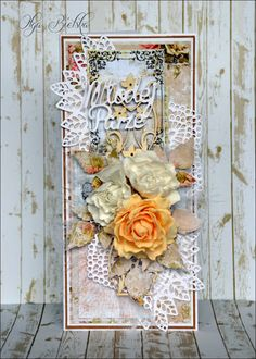 Blog Craft Passion: Kurs na kartkę ślubną / Wedding card tutorial