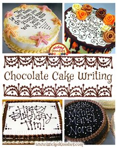 Recipe, design ideas and and instructions on how to make shiny and smooth poured chocolate glaze for decorating and enrobing cakes Chocolate Glaze Recipes, Flourless Chocolate Cakes, Chocolate Icing, Frosting Tips, Frosting Recipes, 50th Anniversary Cakes, Cold Cake, Cake Writing, Cake Platter