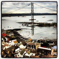 Fourth car bridge #scotland #bridge #car #sea #water #house #bay #roof #cloud #cloudporn #sky #skyporn #white #grey #beach #boat #fishing