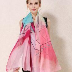 Elegantná hodvábna dámska šatka - 180 x 110 cm - vzor 7 Outfit, Outfits, Kleding, Clothes