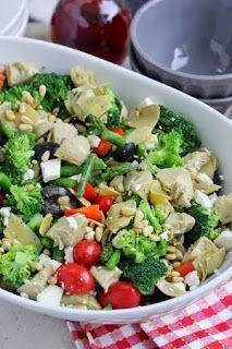 Greek Vegetable Salad with Homemade Greek Vinaigrette