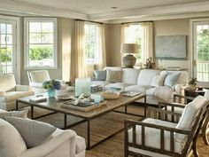 beautiful traditional beige and white large open living room sisal wood industrial beach style