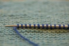 A row of stitches picked up from garter stitch.