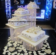 Discover thousands of images about Crystal cake 37 Wedding Cake Stands, Elegant Wedding Cakes, Beautiful Wedding Cakes, Wedding Cake Designs, Beautiful Cakes, Edible Cake Decorations, Wedding Decorations, Chandelier Cake, Crystal Cake