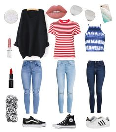 """""""3 amigos 💕"""" by rieserrylie on Polyvore featuring WithChic, Vans, RE/DONE, H&M, Converse, Topshop, Boohoo, adidas, Gray Malin and Sunny Rebel"""