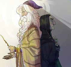 Dumbledore and Snape - LifeofaPottedPlant on DeviantArt