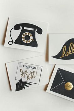 Assorted 'Hello' Cards from Rifle Paper Co. | Ana Perkins' Essentials | Camille Styles