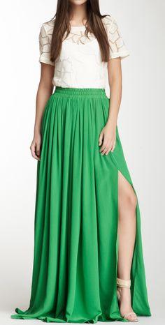 Kelly green maxi
