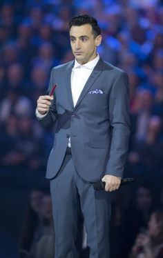And here we have the extremely serious Jacob Hoggard eating a Twizzler during his hosting gig at the Junos.