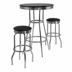 30 White Retro Chrome Bar Table Set In 2018 Tables Pinterest And Stools