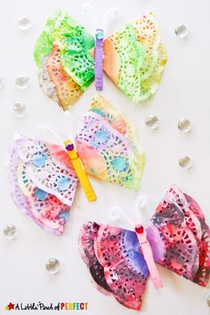 When I think of butterflies I think of spring, warm weather, and color popping out everywhere after a long winter (I can't wait!). Since we have extra doilies from our Valentine's Day Heart Craft and I have two kids who love butterflies, painting, and crafting I figured we should use them to make some lovely lacy …