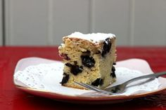 Episode 4 Recipes - Recipes - Cafe Secrets - Shows - - white choc and blueberry blondie Blondie Recipe, White Chocolate Blondies, Cafe Food, Mozzarella, Blueberry, Bacon, Vanilla, Egg, Brunch