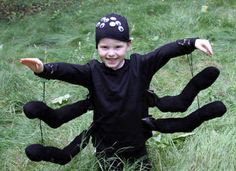 Spider Costume Craft: Homemade Halloween Costumes and Crafts - Kaboose.com