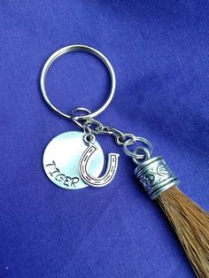 Equestrian Gifts, Horse Names, Tassel Keychain, Horse Hair, Key Chains, Key Rings, Hand Stamped, Tassels, My Etsy Shop