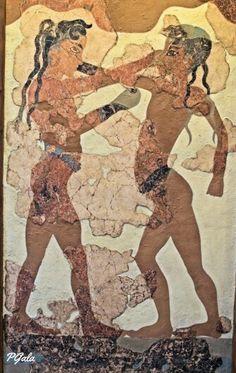 Luchadores de Thera. Santozeun. Phira. Grecia