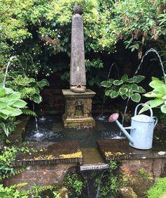 Water feature at Shepherd House garden in Inveresk.