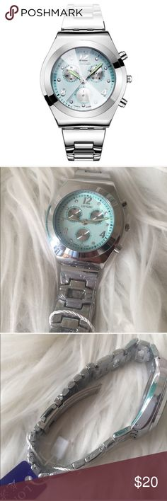 ‼️CLOSING MY CLOSET‼️ Love love love!! This is an all silver watch with a Tiffany blue green face. Looks amazing. Hands glow in the dark. Accessories Watches