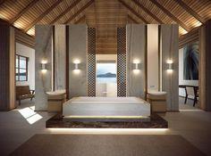 Contemporary Eden Island Villa in the Seychelles by Antoni Associates - Home Decor Fashions Island Villa, Resort Villa, Outdoor Rooms, Amazing Bathrooms, Home Projects, Luxury Homes, Interior Design, Room Interior, Seychelles