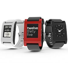 Pebble e-paper watch – Built using a high resolution e-paper display, the watch is readable in all conditions while a Bluetooth connection enables one to work in conjunction with a smartphone.
