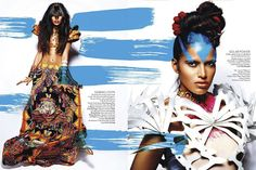 Wandering Threads: [ CALL OF THE WILD ] Vogue India March 2012