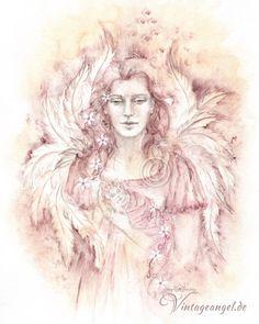 Vintage Angel ღ Schutzengel mit Kind ღ