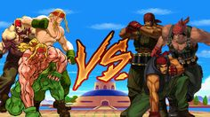 The hero of Street Fighter: Third Strike vs. The Colonel of The Ikari Warriors: Alex vs. Ralf