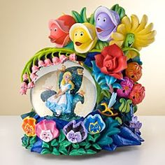Disney Snowglobes Collectors Guide: Alice in Wonderland Golden Afternoon Snowglobe