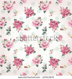 seamless vintage flower pattern grunge background - stock vector