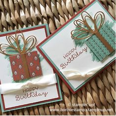 New in the Stampin' Up holiday catalog, copper foil sheets add just the right…