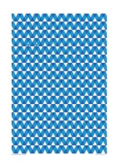 """Teatowel  Blue graphic pattern by HelenaLunding on Etsy. """"Don´t be competative. Be creative"""""""