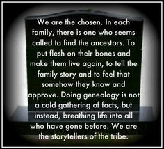 Wordless Wednesday: We are the storytellers of the tribe #genealogy #familyhistory