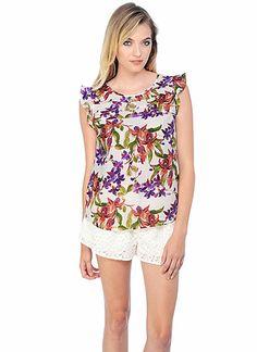 BB Dakota Official Store, Jilles Top, white cap, Tops : Short Sleeves, JE14155