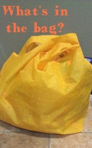 What's in the bag?  A simple tip for getting something done while keeping a little one occupied #toddlers. | Simple.Home.Blessings.