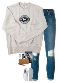 """""""Every day"""" by halledaniella ❤ liked on Polyvore featuring J Brand, Vans, Vanessa Mooney, Burt's Bees, Benefit, Tory Burch and OtterBox"""
