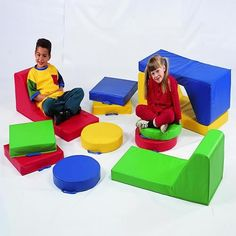 Create comfortable places for reading and play by adding floor cushions! Fun colors and comfortable! https://goo.gl/l1NnpN