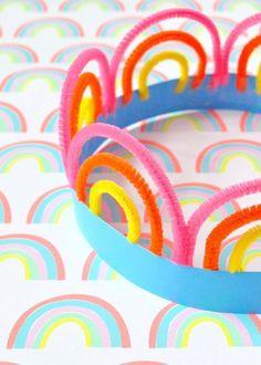 St Patrick's Day Rainbow Crowns ⋆ Handmade Charlotte - - St Patrick's Day Rainbow Crowns ⋆ Handmade Charlotte St. Patrick's Day DIY St Patrick's Day Rainbow Crowns Crown Crafts, Hat Crafts, St Patrick's Day Crafts, Diy Crown, Crazy Hat Day, Crazy Hats, Diy Halloween Village, Saint Patrick's Day, Crown For Kids
