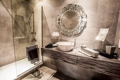 Rakhee Jain Interior Design - Luxury Bathroom Design Featuring Intricate Mirror.jpg