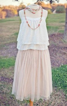 Women's Ballet Skirt TaupeTop & Necklace Available Too!Now In Stock