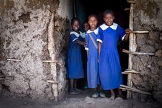 Ndege children waiting for school to start.