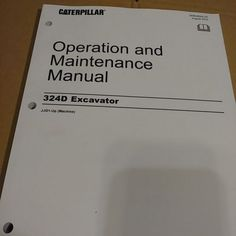 Caterpillar operations manual download file pdf caterpillar cat caterpillar 324d excavator operation and operator maintenance manual fandeluxe Gallery