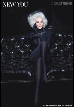THE DAME OF THEM ALL!! Still slaying at 82!  Carmen Dell'Orefice.