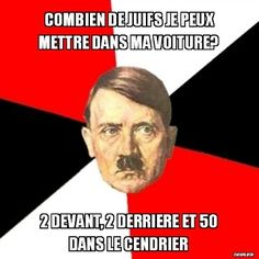 """Read Hitler 2 from the story Humour Noir by Annabeline (I'm a fucking looser) with reads. Hitler : """"Combien de juifs je peux m. Miserable Quotes, Stupid Quotes, Funny Quotes, Funny Memes, Jokes, Good News Quotes, Best Quotes, Top Memes, Best Memes"""