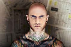 "Be a ""tattoo man"" with PhotoFacer! Try the app now and have fun ;)"